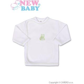 Kojenecká košilka s vyšívaným obrázkem New Baby zelená Zelená 50