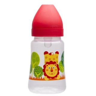 Láhev s širokým hrdlem Akuku 250 ml červená Červená