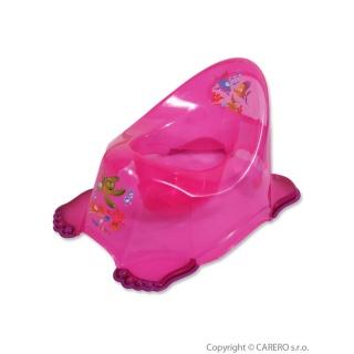 Dětský nočník protiskluzový aqua růžový Růžová