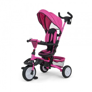 Dětská tříkolka 6v1 Milly Mally Stanley pink Růžová