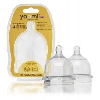 Yoomi savičky na láhev teats Medium flow - YMFT
