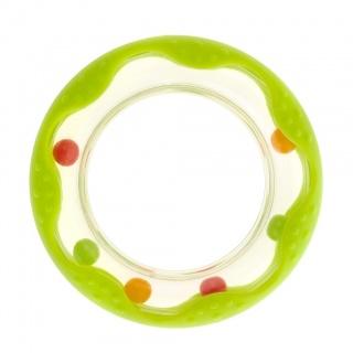 Dětské chladící kousátko Akuku kolečko zelené Zelená