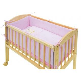7dílná souprava do postýlky Scarlett Baby MÉĎA 90 x 41 cm - růžová