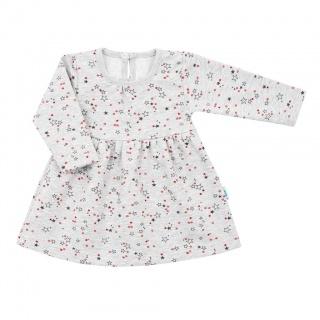 Kojenecké šatičky s dlouhým rukávem New Baby For Girls hvězdičky Šedá 92 (18-24m)