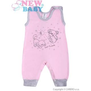 Kojenecké dupačky New Baby Kamarádi růžové Růžová 80 (9-12m)