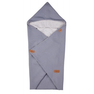 Voksi fusak Baby Wrap light grey star