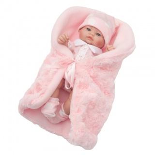 Luxusní dětská panenka-miminko Berbesa Anička 28cm Růžová