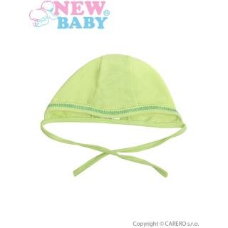 Kojenecká čepička New Baby zelená Zelená 56 (0-3m)