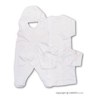Soupravička 5-ti dílná New Baby bílá Bílá 62 (3-6m)