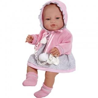 Luxusní dětská panenka-miminko Berbesa Amanda 43cm Růžová