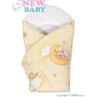 Dětská zavinovačka New Baby žlutá s medvídkem Žlutá