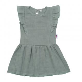Kojenecké mušelínové šaty New Baby Summer Nature Collection mátové Zelená 86 (12-18m)