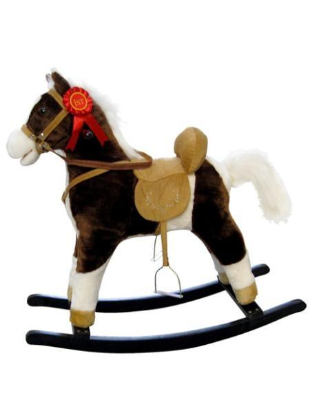 Houpací koník Milly Mally Mustang tmavě hnědý Hnědá