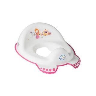 Dětské protiskluzové sedátko na WC Malá Princezna bílé Bílá
