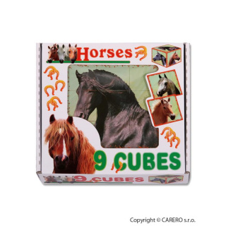 Skládací obrázkové kostky Horses Dle obrázku