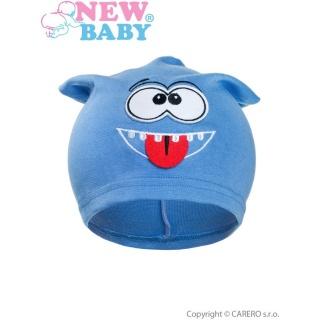 Podzimní dětská čepička New Baby smíšek světle modrá Modrá 110 (4-5r)