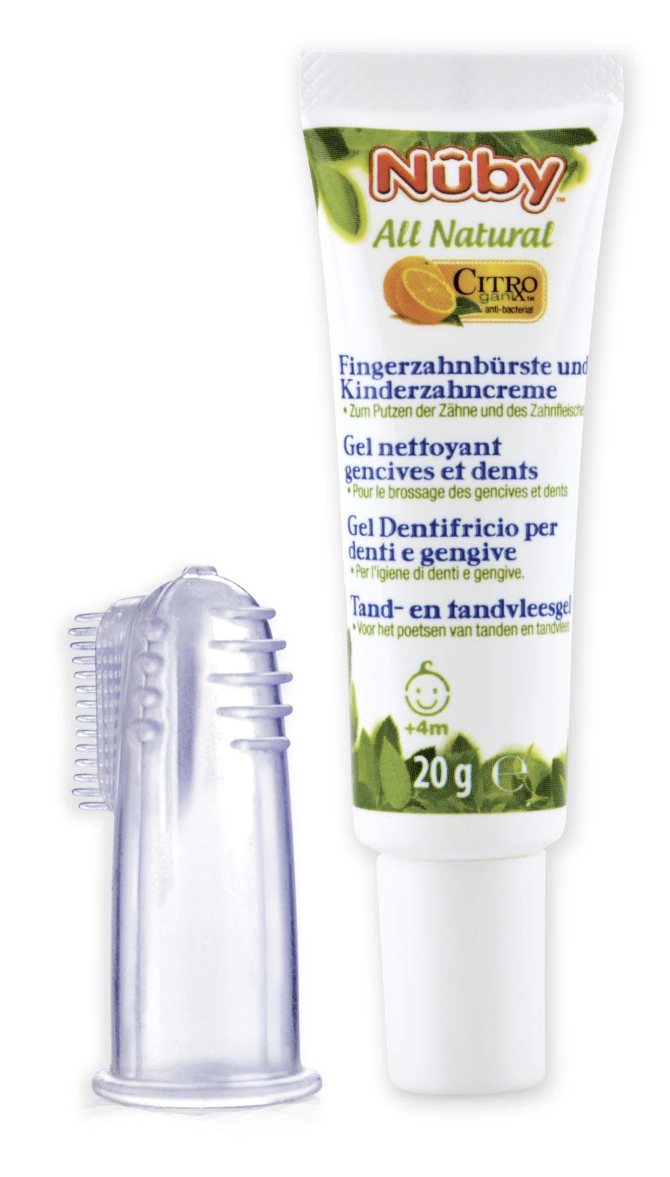 Zubní gel pro děti All Natural 20g + kartáček na prst 4m+