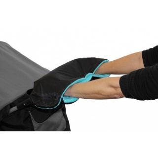 Emitex Rukávník ke kočárku Černý + Aqua