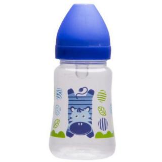 Láhev s širokým hrdlem Akuku 250 ml modrá Modrá