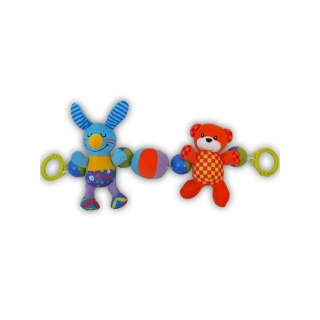 Dětské plyšové chrastítko do kočárku Baby Mix králíček Dle obrázku