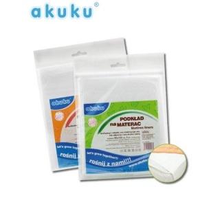 Nepromokavá podložka Akuku gumová 50x120 - silnější tloušťka Bílá