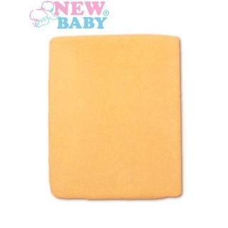 Nepromokavé prostěradlo New Baby 120x60 oranžové Oranžová