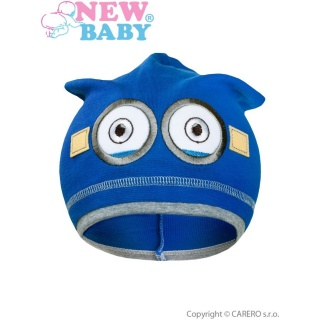Podzimní dětská čepička New Baby mimoň tmavě modrá Modrá 110 (4-5r)