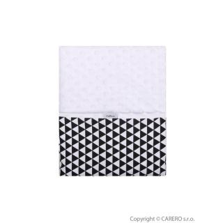 Dětská oboustranná deka z Minky Womar 75x100 černo-bílá Černá