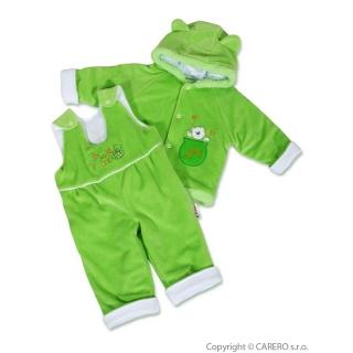 Kojenecká zimní souprava New Baby medvídek zeleno-bílá Zelená 74 (6-9m)