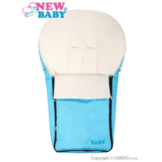 Luxusní fleecový fusák New Baby tyrkysový Modrá