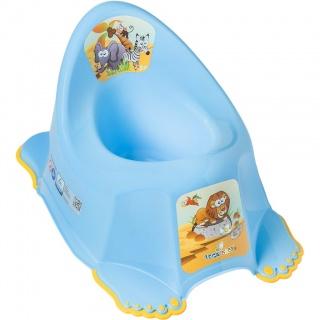 Dětský nočník protiskluzový Safari modrý Modrá