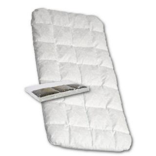 Dětská matrace do kočárku New Baby 75x35 molitan-pohanka bílá Bílá