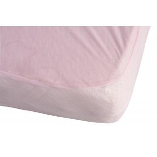 Nepropustné prostěradlo TENCEL - růžová 60 x 120 cm