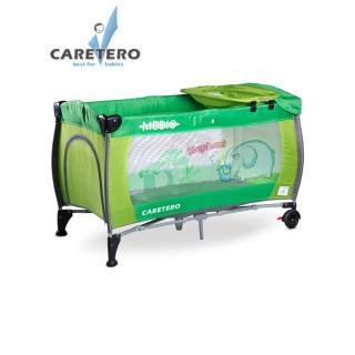 Cestovní postýlka CARETERO Medio green Zelená