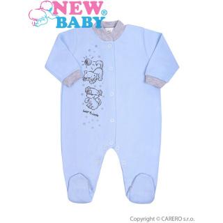 Kojenecký overal New Baby Kamarádi modrý Modrá 74 (6-9m)