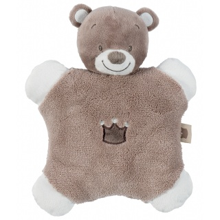Nattou Chrastítko polštářek medvídek Tom