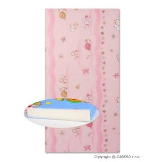 Dětská pěnová matrace růžová - různé obrázky Růžová