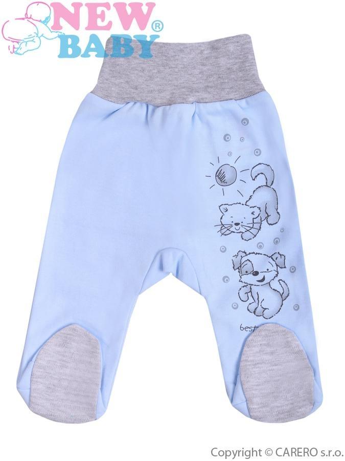 Kojenecké polodupačky New Baby Kamarádi modré Modrá 80 (9-12m)