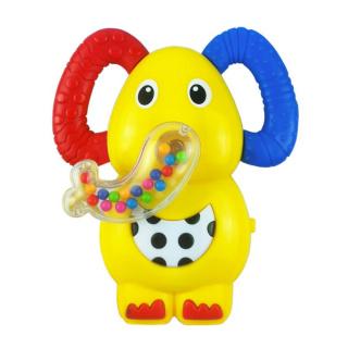 Dětské chrastítko se zvukem Baby Mix sloník Žlutá