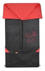 Emitex Fusak 2v1 Fanda antracit + červená