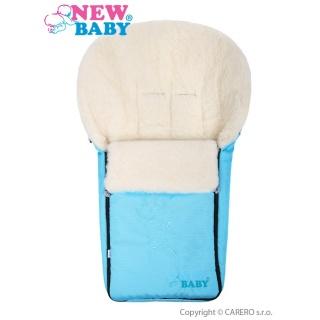 Luxusní fusák s ovčím rounem New Baby tyrkysový Modrá