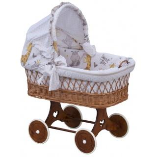 Proutěný košík na miminko s boudičkou Scarlett Nebula - béžová
