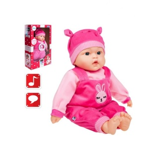Polsky mluvící a zpívající dětská panenka PlayTo Zosia 46 cm Růžová