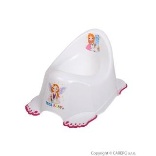 Hrající dětský nočník protiskluzový Malá Princezna bílý Bílá