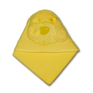 Dětská froté osuška pejsek 100x100 žlutá Žlutá