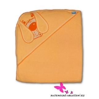 Dětská froté osuška pejsek 100x100 oranžová Oranžová