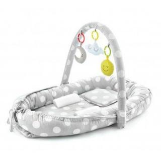 Hnízdečko Between Parents Baby Bed Grey