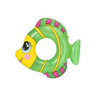 Dětský nafukovací kruh Bestway ve tvaru rybky zelený Zelená