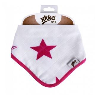 Kikko Bambusový dětský slintáček/šátek XKKO BMB - Magenta Stars 1 ks