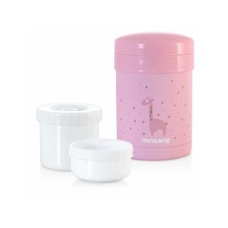 Termoska Thermic a kelímky na jídlo Pink 700ml